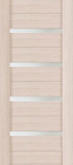 Ладора,2-15, Орех капучино - Белое стекло