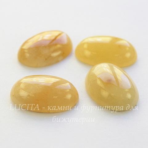 Кабошон овальный Агат желтый, 25х18 мм