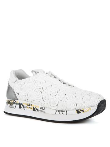 Текстильные кроссовки Premiata Conny 3839 на шнуровке
