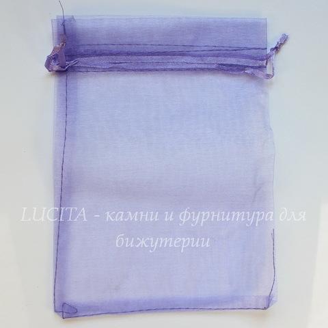 Подарочный мешочек из органзы, цвет - фиолетовый, 18х13 см