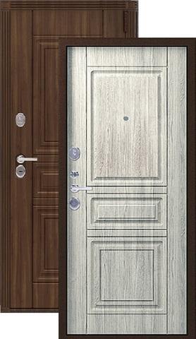 Дверь входная Легион L-4, 2 замка, 1,5 мм  металл, (медный муар+полярный дуб)