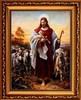 Добрый Пастырь. Икона Иисуса Христа на холсте.