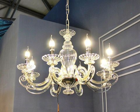 murano chandelier  SYLCOM 12- 30 by Arlecchino Arts ( HK)