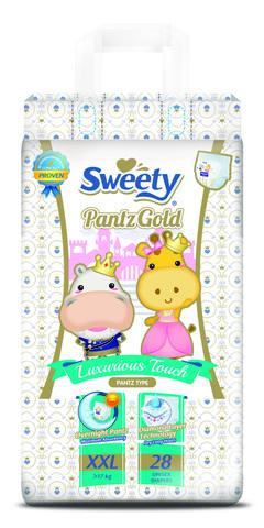 Трусики Sweety Pantz Gold XXL28 (17-25кг)