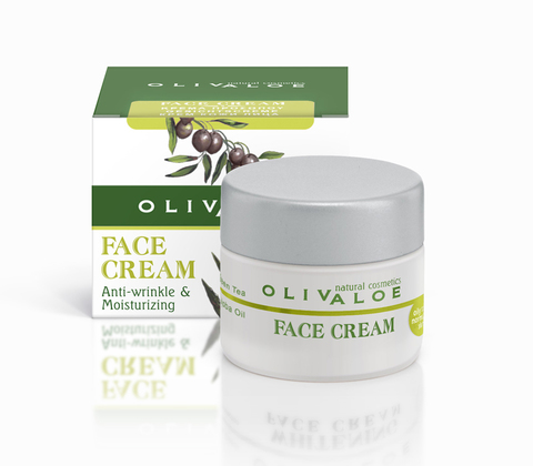 Увлажняющий крем от морщин для жирной и нормальной кожи лица OlivAloe 40 мл