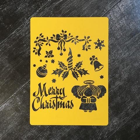 Трафарет новогодний №13 Merry Christmas
