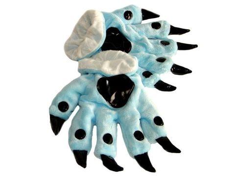Перчатки кигуруми голубые 2