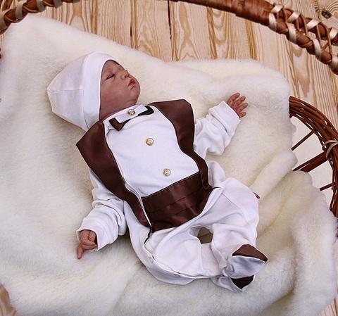 Нарядный человечек с шапочкой Шоколад