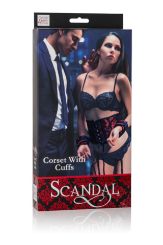 Scandal® Corset with Cuffs - Red