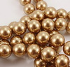 5810 Хрустальный жемчуг Сваровски Crystal Bright Gold круглый 6 мм, 5 штук (Crystal Bright Gold 2)