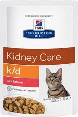 Ветеринарный корм для кошек при заболеваниях почек Hill`s Prescription Diet k/d с лососем