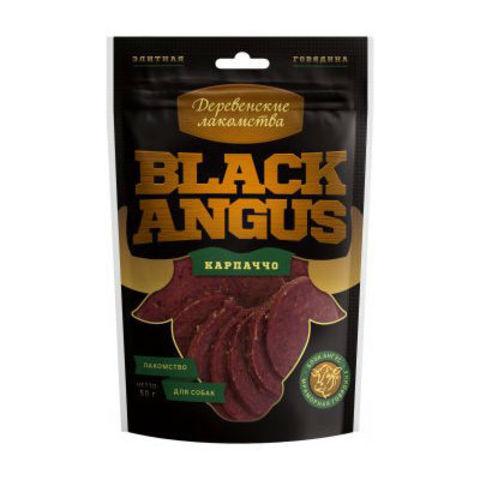 Деревенские лакомства для собак Black Angus карпаччо из говядины 50г
