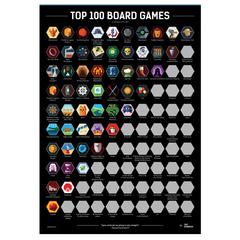 Скретч-постер Top 100 Boardgames