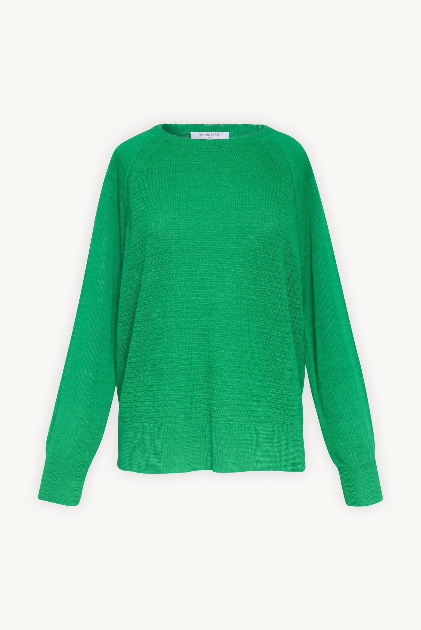 Светлый льняной трикотажный пуловер