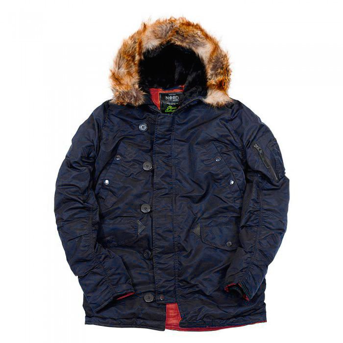 Куртка Аляска  Nord Storm N-3B Husky (т.синий/красный - ink/red)