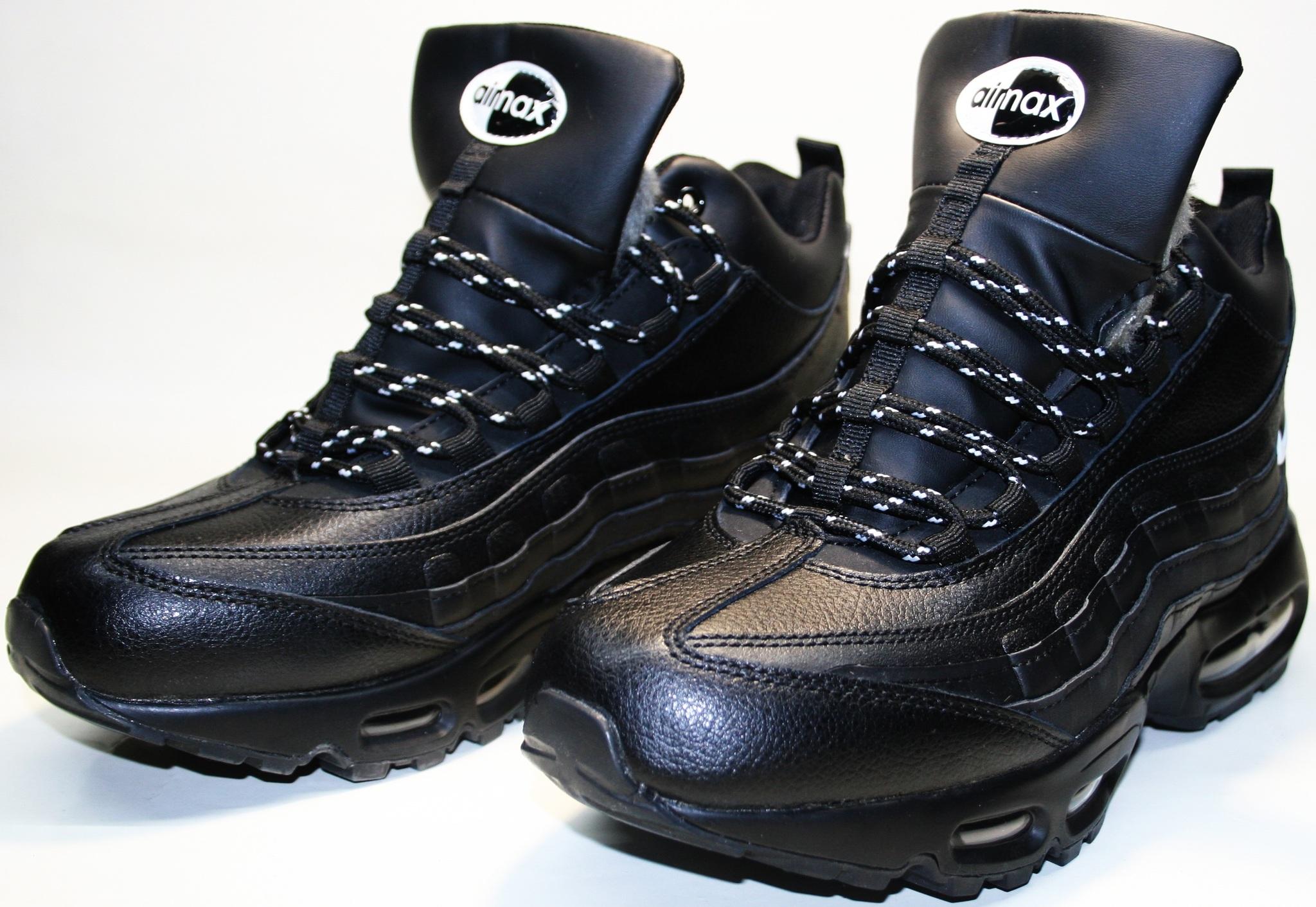 b28e9f7b Кроссовки зимние мужские Nike Air Max 95 All Black с мехом от 2tufli ...