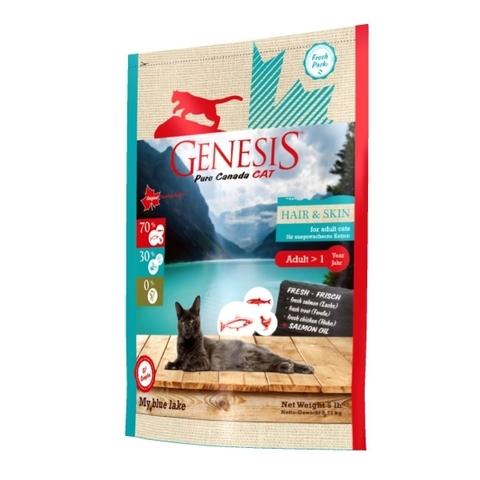 Genesis Pure Canada My Blue Lake Hair Skin для взрослых кошек, для улучшения кожи и шерсти с лососем, форелью и курицей 2.268 кг