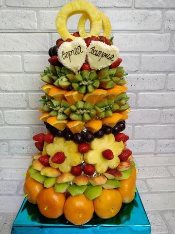 Объемные фигуры из фруктов