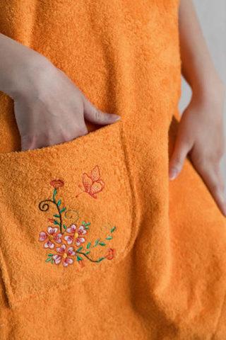 Парео махровое женское (Оранжевый)