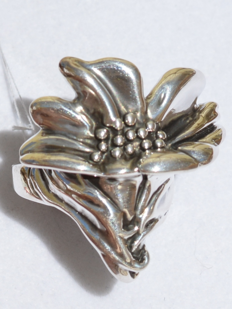 Колокольчик (кольцо из серебра)