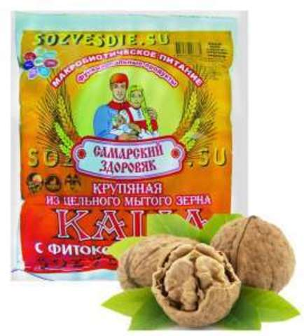 Каша Самарский Здоровяк №70 Пшеничная с грецким орехом