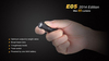 Купить Фонарь-брелок на ключи Fenix E05 черный, 85 люмен (34284) по доступной цене