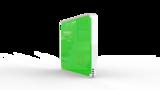 Выключатель пятиканальный Heltun (Зелёная панель, Белая рамка)