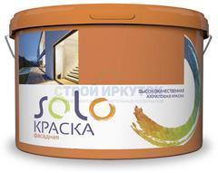 Краска SOLO фасадная акриловая, 14 кг
