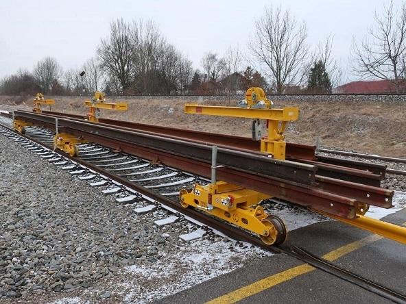 Устройство для погрузки и транспортировки рельсов Robel 40.51