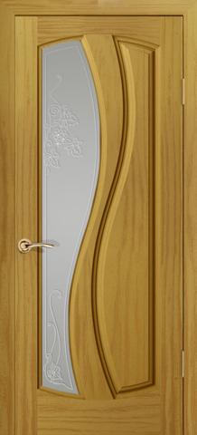 Дверь Океан Neo Classica Шарм , стекло белое, цвет ясень шервуд, остекленная