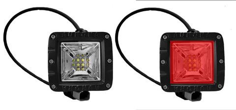Светодиодная LED фара панорамного красного.и белого света 40 Вт Аврора  ALO-2-E12KR