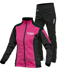 Утеплённый лыжный костюм RAY Pro Race WS Pink-Black 2018 женский
