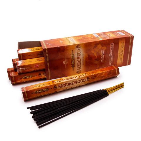 Благовония HEM Hexa SOHAM SANDALWOOD, 20 г (20 ароматических палочек)