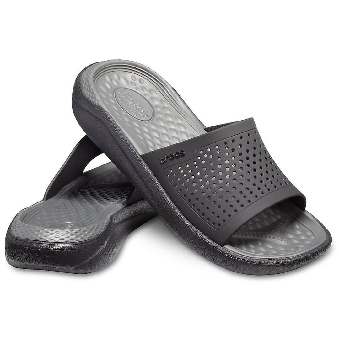 Шлепанцы CROCS LiteRide Slide Black Slate Grey
