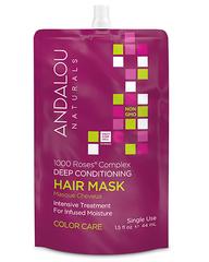 """Маска для сухих, поврежденных и окрашенных волос """"1000 роз"""", Andalou Naturals"""