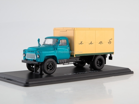 GAZ-52 GZSA-3704 van Bread early grille blue-yellow 1:43 Start Scale Models (SSM)