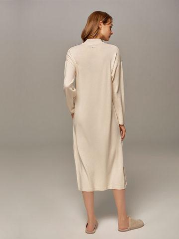 Женское платье молочного цвета из шерсти и кашемира - фото 2