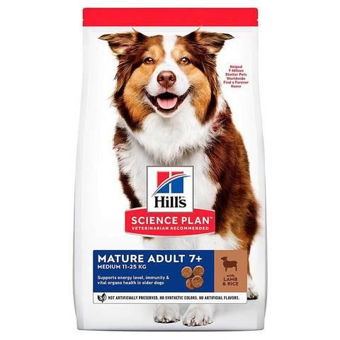 Корм для собак Hill's (12 кг) Science Plan Canine Mature Adult 7+ Active Longevity Medium Lamb & Rice