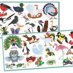 Развивающий набор наклеек:  Насекомые и птицы