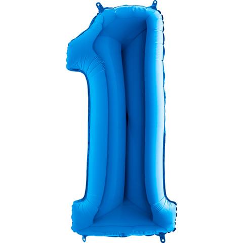 Цифра 1 (Синяя)