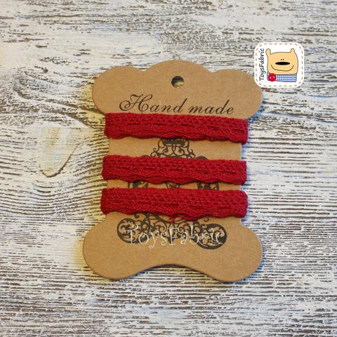 Кружево BB1-J  хлопок вязаное 2 метра (красный)