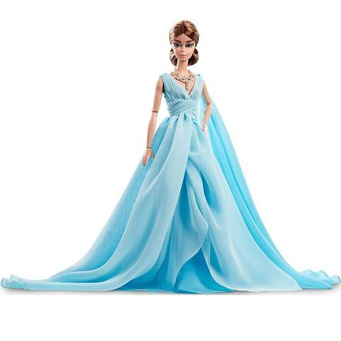 Барби Манекенщица в синем шифоновом бальном платье