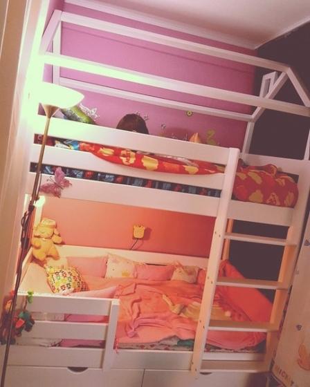 Кровать двухъярусная Домик