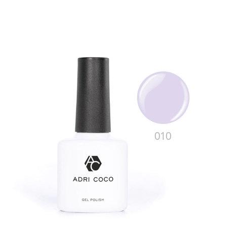 Цветной гель-лак ADRICOCO №010 пепельно-сиреневый (8 мл.)