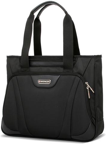 Сумка WENGER 16'', чёрный, 1 отделение, карман-органайзер, полиэстер 41x9x33 см (12л.)