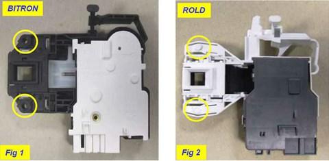Устройство блокировки люка (УБЛ) для стиральной машины Ariston (Аристон) - 285597, 254755