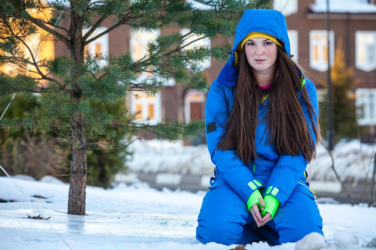 Комбинезон взрослый женский мужской зимний SASHA JUNIOR цвет синий