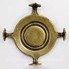 """Сеттинг - основа """"Черепашка"""" для камеи или кабошона 16 мм (оксид латуни)"""