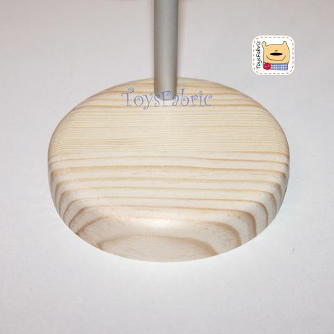 Подставка для кукол круглая D=8 см  (сосна) с держателем