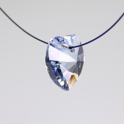 6228 Подвеска Сваровски Сердечко Light Sapphire (14,4х14 мм) ()
